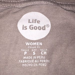 Life Is Good Tops - Life Is Good Going Places Long Sleeve Gray Shirt